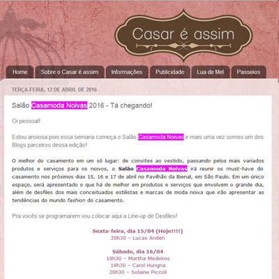 Blog Casar é Assim