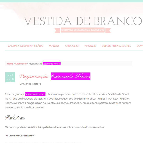 Blog Vestida de Branco