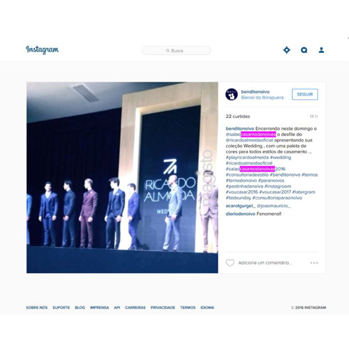 Instagram Bendito Noivo