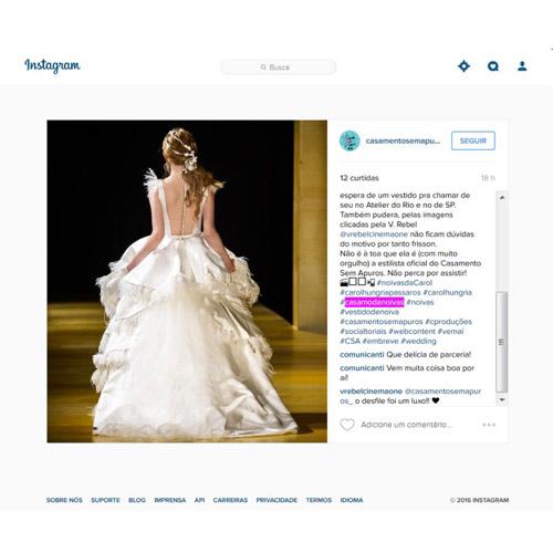 Instagram Casamento em Apuros