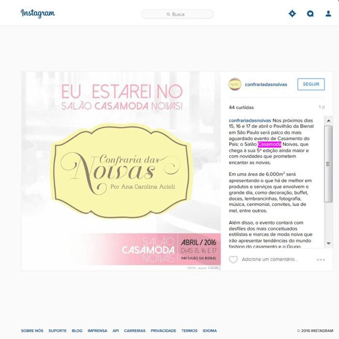 Instagram Confraria das Noivas