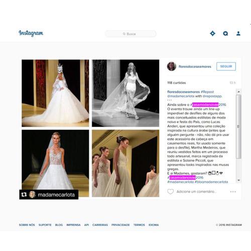 Instagram Flores Doces e Amores