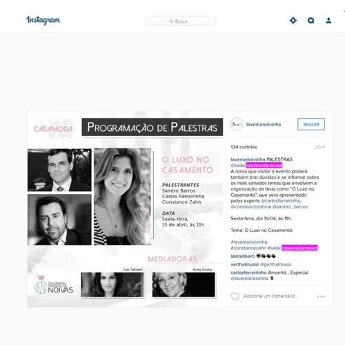 Instagram La vem a noiva
