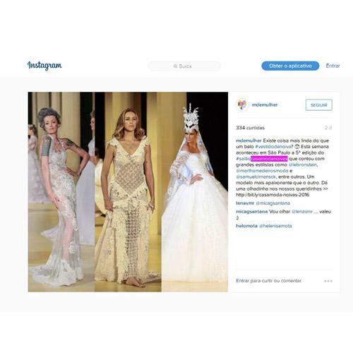 Instagram M de mulher