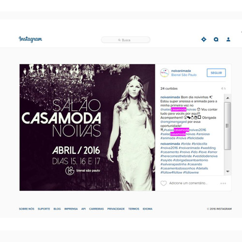 Instagram Noiva Animada
