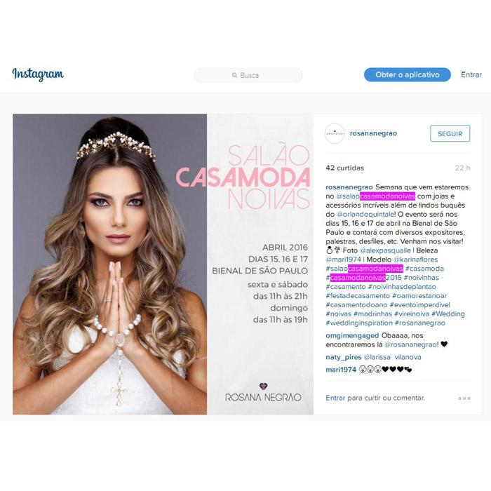 Instagram Rosana Negrão