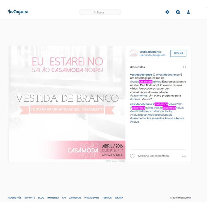 Instagram Vestida de Branco